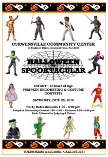 Annual Halloween Spooktacular at the Curwensville Community Center