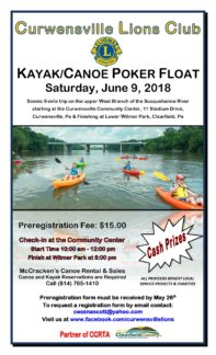 Curwensville Lions Club Poker Float June 9, 2018